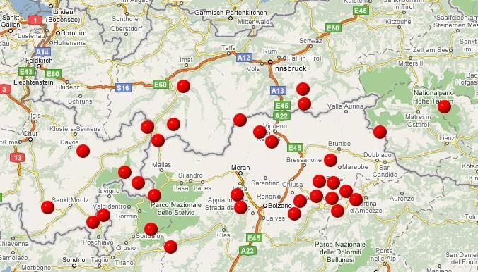Alpenpässe Karte.Homepage Rainer Grams Alpenpässe